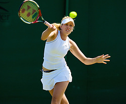 LONDON, ENGLAND - Tuesday, July 1, 2008: Tyra Calderwood (AUS) during the girls' singles second round match on day eight of the Wimbledon Lawn Tennis Championships at the All England Lawn Tennis and Croquet Club. (Photo by David Rawcliffe/Propaganda)
