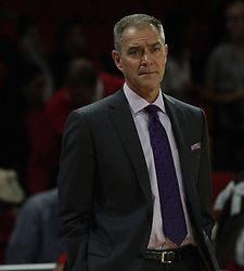 November 14, 2017 - Oxford, Ohio, U.S - Wright State Raiders head coach Scott Nagy looks on during play in Oxford with the Miami (Oh) Redhawks. On Tue Nov 14, 2017. As his team fall the the Redhawks 73 to 67 in Oxford,Ohio. (Credit Image: © Ernest Coleman via ZUMA Wire)