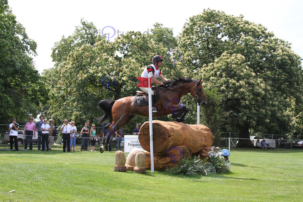 Denis Mesples; Olipper Schervil London 2012 Olympics Sport Testing Program Greenwich Park Cross Country Eventing, London, UK, 05 July 2011:  Contact: Rich@Piqtured.com +44(0)7941 079620 (Picture by Richard Goldschmidt)