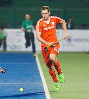 RAIPUR (India) . Mirco Pruijser (Ned)  tijdens de wedstrijd tussen Nederland en Argentinie in de Hockey World League Final round  .  ANP KOEN SUYK