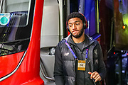 Liverpool defender Joe Gomez (12) arrives at the stadium ahead of the Champions League match between FC Red Bull Salzburg and Liverpool at the Red Bull Arena, Salzburg, Austria on 10 December 2019.