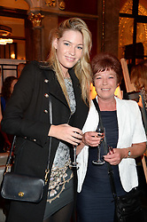 CLAIRE SELBY and her mother DAWN SELBY at Models and Mothers Private View, a photographic exhibition in aid of Breakthrough Breast Cancer held at The Gilbert Scott, St Pancras Renaissance Hotel, London, NW1 on 7th October 2013.