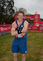 Olympic rower James Cracknell - photographed at the start of the Virgin Money London Marathon 2015, Sunday 26th April 2015<br /> <br /> Roger Allen for Virgin Money London Marathon<br /> <br /> For more information please contact Penny Dain at pennyd@london-marathon.co.uk