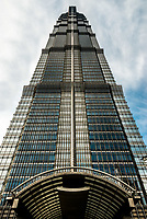 Jin Mao Tower skyscrapers building pudong Shanghai China