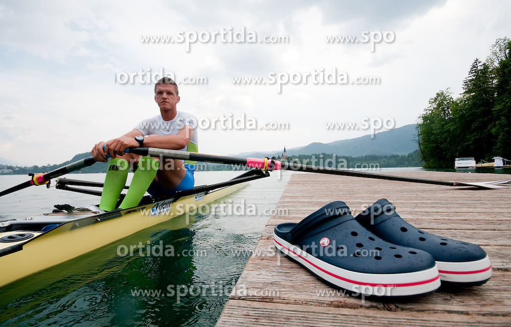 during photo session of Slovenian National Rowing team, on May 20, 2011, in Bled lake, Slovenia. (Photo by Vid Ponikvar / Sportida)