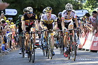 BOASSON HAGEN Edvald of MTN - Qhubeka, KRUIJSWIJK Steven of Team LottoNL-Jumbo and BUCHMANN Emanuel of Bora-Argon 18 in action during the stage 3 of the 102nd edition of the Tour de France 2015 with start in Antwerp and finish in Huy, Belgium (159 kms)