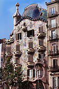 Casa Batlo: a Gaudi designed apartment building in Barcelona, Spain.
