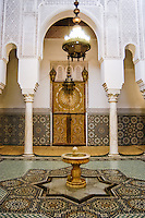 The mausoleum of Moulay Ismail in Meknes, Morocco. Interior details.