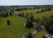 Aerial view of the National Shrine of Our Lady of Good Help in Champion, Wis. (Sam Lucero photo)