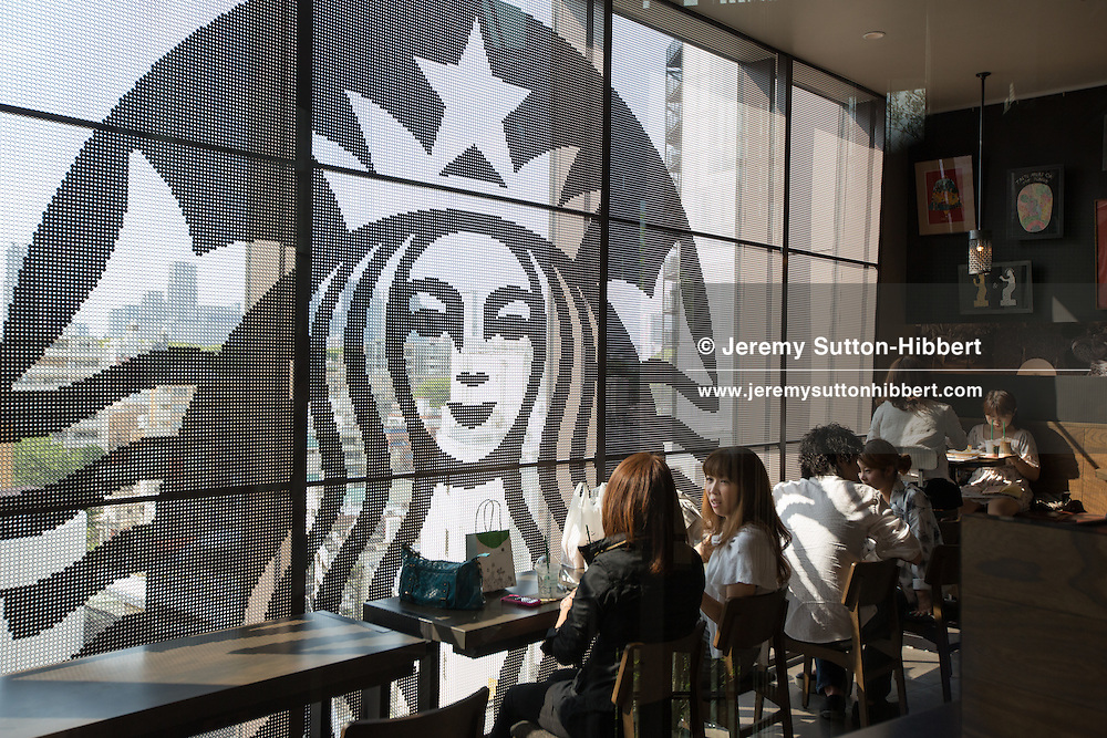 Starbucks coffee shop, inside the new 'Tokyu Plaza Omotesando Harajuku' shopping complex in Harajuku district, in Tokyo, Japan on Friday 11th May 2012.