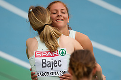 Dasa Bajec and Liona Rebernik of Slovenia after competing during  the 4x400m Womens Relay Heats during day five of the 20th European Athletics Championships at the Olympic Stadium on July 31, 2010 in Barcelona, Spain.  (Photo by Vid Ponikvar / Sportida)