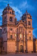 Iglesia de La Compañia de Jesus on Plaza de Armas in Cusco, Peru.