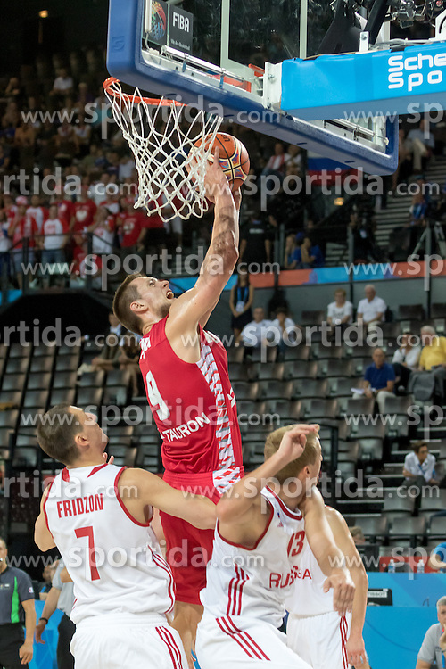 06.09.2015, Park Suites Arena, Montpellier, FRA, Russland vs Polen, Gruppe A, im Bild MATEUSZ PONITKA (9) // during the FIBA Eurobasket 2015, group A match between Russia and Poland at the Park Suites Arena in Montpellier, France on 2015/09/06. EXPA Pictures &copy; 2015, PhotoCredit: EXPA/ Newspix/ Pawel Pietranik<br /> <br /> *****ATTENTION - for AUT, SLO, CRO, SRB, BIH, MAZ, TUR, SUI, SWE only*****