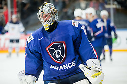 Florian Hardy of France during the 2017 IIHF Men's World Championship group B Ice hockey match between National Teams of Finland and France, on May 7, 2017 in Accorhotels Arena in Paris, France. Photo by Vid Ponikvar / Sportida