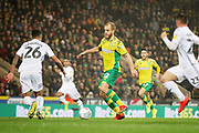 Norwich City forward Teemu Pukki (22)during the EFL Sky Bet Championship match between Norwich City and Swansea City at Carrow Road, Norwich, England on 8 March 2019.