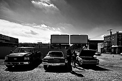 The local classic and American muscle car community gathers for a meet on a North Philadelphia parking lot, on September 15, 2019.