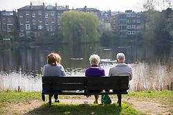 © licensed to London News Pictures. London, UK 01/04/2014. People enjoy the sunshine in Hampstead Heath, London on Tuesday, 1 April 2014. Photo credit: Tolga Akmen/LNP