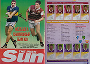 All Ireland Senior Hurling Championship Final,.09.09.2001, 9th September 2001,.Minor Cork 2-10, Galway 1-8,.Senior Tipperary 2-18, Galway 2-15,  .09092001AISHCF,..The Irish Sun,