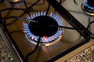 Gaspit met gasvlammen van een gaskooktoestel.  ROBIN UTRECHT