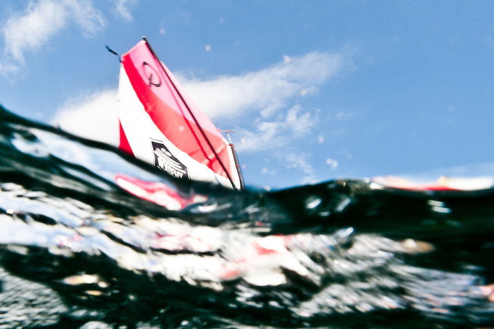 SPAIN, Alicante. 16th October 2011. Optimist team racing in the Volvo Ocean Race Academy in the Alicante race village.