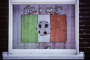 Soccer fan house in a popular district of Dublin.
