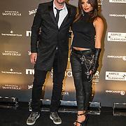 NLD/Amsterdam/20150202 - Edison Awards 2015 Johnny de Mol en partner Shima Kaes