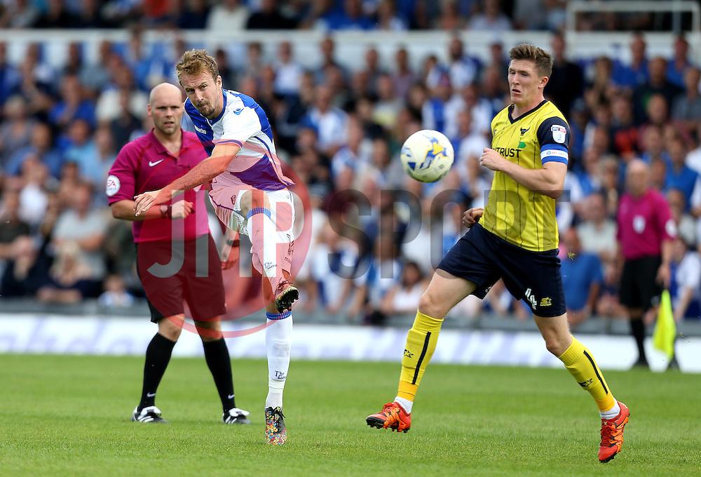 Chris Lines of Bristol Rovers shoots at goal - Mandatory by-line: Robbie Stephenson/JMP - 14/08/2016 - FOOTBALL - Memorial Stadium - Bristol, England - Bristol Rovers v Oxford United - Sky Bet League One