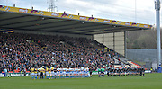 13.11.2011. Glasgow, Scotland.  Heineken Cup pool 3 Rugby Union from the Firhill Stadium. Glasgow Warriors v Bath. A minutes silence before kick off for the rememberance day.
