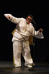 Visually impaired Elvis impersonator