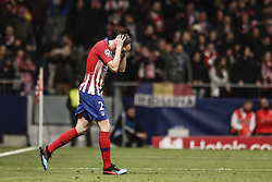 February 20, 2019 - Madrid, Spain - Diego Godin (Atletico de Madrid)  celebrates his goal which made it (2,0)   UCL Champions League match between Atletico de Madrid vs Juventus at the Wanda Metropolitano stadium in Madrid, Spain, February 20, 2019  (Credit Image: © Enrique De La Fuente/NurPhoto via ZUMA Press)
