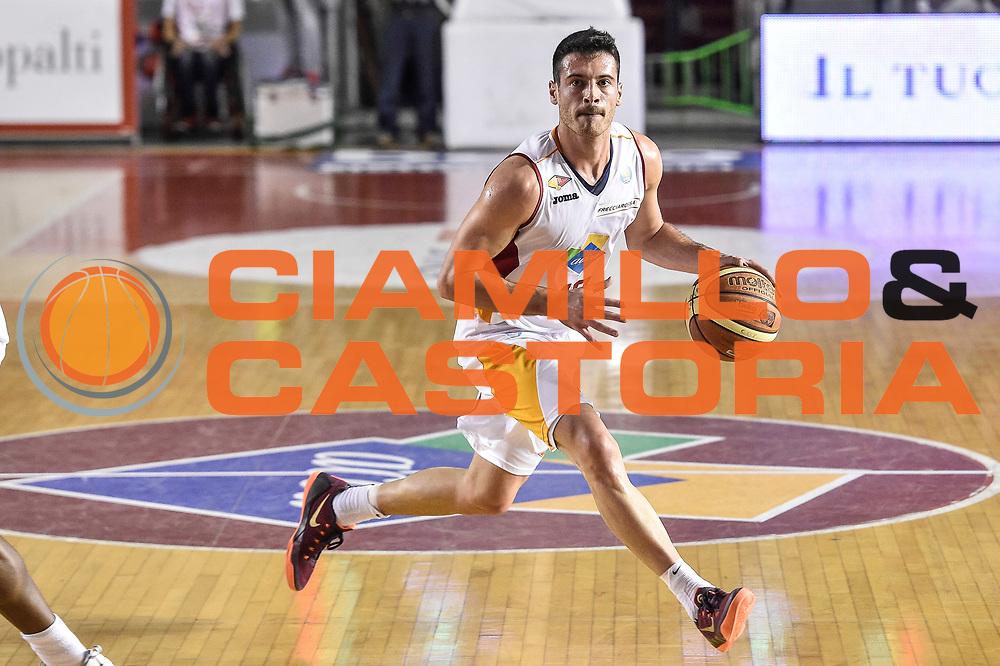 DESCRIZIONE : Campionato 2014/15 Virtus Acea Roma - Giorgio Tesi Group Pistoia<br /> GIOCATORE : Lorenzo D'Ercole<br /> CATEGORIA : Palleggio<br /> SQUADRA : Virtus Acea Roma<br /> EVENTO : LegaBasket Serie A Beko 2014/2015<br /> GARA : Dinamo Banco di Sardegna Sassari - Giorgio Tesi Group Pistoia<br /> DATA : 22/03/2015<br /> SPORT : Pallacanestro <br /> AUTORE : Agenzia Ciamillo-Castoria/GiulioCiamillo<br /> Predefinita :