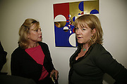 Kay Saatchi and Hannah Rothschild, Work by Mexican artist, Gabriel Orozco. Gallery opening & private view at new White Cube space, 25-26 Mason's Yard, London and afterwards at Claridges. London. 27 September 2006. <br /> -DO NOT ARCHIVE-© Copyright Photograph by Dafydd Jones 66 Stockwell Park Rd. London SW9 0DA Tel 020 7733 0108 www.dafjones.com