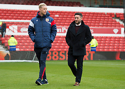 Bristol City head coach Lee Johnson  and Hordur Magnusson of Bristol City - Mandatory by-line: Alex James/JMP - 28/04/2018 - FOOTBALL - The City Ground - Nottingham, England - Nottingham Forest v Bristol City - Sky Bet Championship