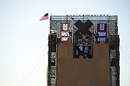 Riders during Skate Big Air Practice at 2014 X Games Austin in Austin, TX.    ©Brett Wilhelm/ESPN