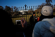 The day after the Inauguration of President Barack Obama. Washington DC, January 21, 2009. Visitors to the White House on the first day of Obama's Presidency.