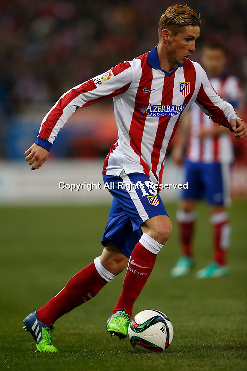 07.01.2015. Madrid, Spain. Copa del Rey Cup football. Atletico Madrid versus real madrid. Fernando Torres, newly signed Forward of Atletico de Madrid .