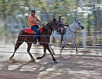 Young Boys Horse Racing. Matto Grosso, Brazil, Isobel Springett