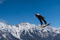 February 24, 2019 - Innsbruck, AUSTRIA - 190224 Daniel Huber of Austria competes in ski jumping team large hill during the FIS Nordic World Ski Championships on February 24, 2019 in Innsbruck..Photo: Joel Marklund / BILDBYRÃ…N / kod JM / 87890 (Credit Image: © Joel Marklund/Bildbyran via ZUMA Press)
