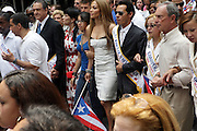 13 June 2010-New York, NY- l to r: Jennifer Lopez, Mark Anthony, King of the Parade and Mayor Michael Bloomberg at the 2010 Puerto Rican Day Parade held along Fifth Ave from West 44th to West 79th Streets. Crowds estimated up to 2 million enjoyed the music, people and float that lined the Parade route.