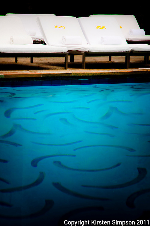 Poolside at the Hollywood Roosevelt Hotel in LA