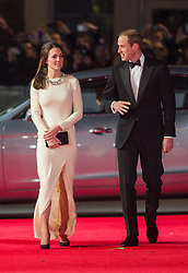 LONDON- UK - 05-DEC-2013: Prince WIlliam and Kate, The Duke and Duchess of Cambridge  attend the Royal Film Performance 2013, the UK Premiere of MANDELA: LONG WALK TO FREEDOM, at the Odeon Leicester Square, London.<br /> Photograph by Ian Jones