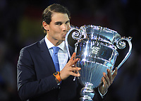 Tennis - 2017 Nitto ATP Finals  at The 02 - Day One, Sunday<br /> <br /> Rafa Nadal receives his Players Number one ranking trophy for the season <br /> <br /> <br /> <br /> COLORSPORT/ANDREW COWIE