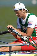 Munich, GERMANY, BLR W1X, Ekaterina KARSTEN-KHODOTOVITCH, concentrate before the start of her heat on  Sunday 26.08.2007. Opening day on the  Munich Olympic Regatta Course, venue for 2007 World Rowing Championship, Bavaria. [Mandatory Credit. Peter Spurrier/Intersport Images]..... , Rowing Course, Olympic Regatta Rowing Course, Munich, GERMANY