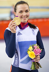 Victoria Pendleton wins Gold in the Cycling at the  2012 London Olympic games, Friday August 3, 2012  Photo By i-Images