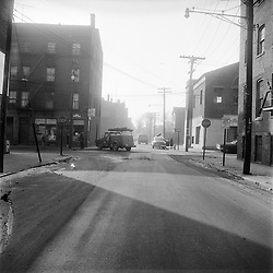 Wallace & Saint John Streets New Haven CT circa 1962. On-The-Scene Accident Photograph by Robert F Anderson Legal Photo Service