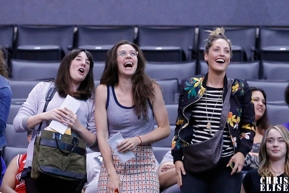 19 June 2014: Fans are seen during the Los Angeles Sparks 87-77 victory over the Tulsa Shock, at the Staples Center, Los Angeles, California, USA.