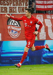 05.02.2020, Allianz Arena, Muenchen, GER, DFB Pokal, FC Bayern Muenchen vs TSG 1899 Hoffenheim, Achtelfinale, im Bild Robert Lewandowski jubelt // during the German Pokal the round of last sixteen match between FC Bayern Muenchen and TSG 1899 Hoffenheim at the Allianz Arena in Muenchen, Germany on 2020/02/05. EXPA Pictures © 2020, PhotoCredit: EXPA/ SM<br /> <br /> *****ATTENTION - OUT of GER*****
