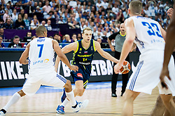 Jaka Blazic of Slovenia during basketball match between National Teams of Finland and Slovenia at Day 3 of the FIBA EuroBasket 2017 at Hartwall Arena in Helsinki, Finland on September 2, 2017. Photo by Vid Ponikvar / Sportida