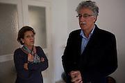 En Tunisie la peur s'installe. Le celèbre avocate et defenseur des droits de l'homme, Radhia Nasraoui, et son mari, Hamma Hammami, secretaire generale du front populaire. Il figure sur une liste noire des personnes a assasiner, publie sur des pages facebook salafistes.. Tunis, 10-02-2013