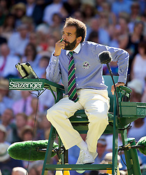 03.07.2014, All England Lawn Tennis Club, London, ENG, WTA Tour, Wimbledon, Tag 10, im Bild Chair umpire Kader Nouni during the Ladies' Singles Semi-Final match on day ten // during day 10 of the Wimbledon Championships at the All England Lawn Tennis Club in London, Great Britain on 2014/07/03. EXPA Pictures &copy; 2014, PhotoCredit: EXPA/ Propagandaphoto/ David Rawcliffe<br /> <br /> *****ATTENTION - OUT of ENG, GBR*****